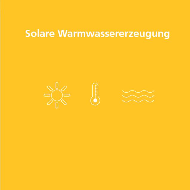 Solare Warmwassererzeugung