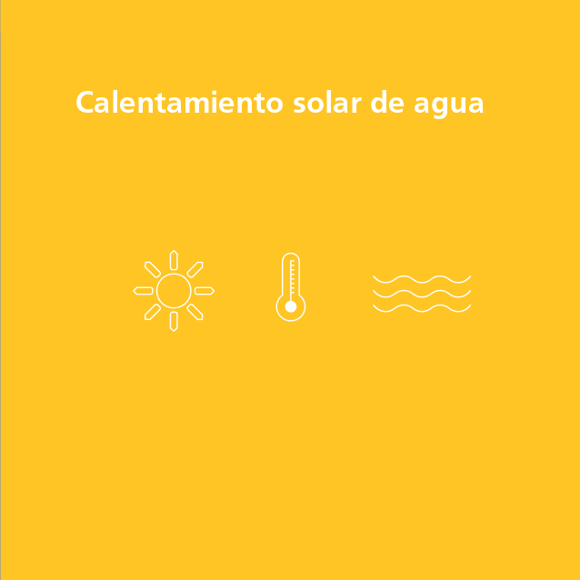 Combustibles fósiles Calentamiento solar de agua